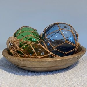 Rustic primitive carved wood bowl